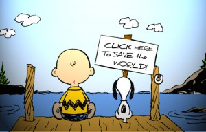slacktivism Charlie Brown