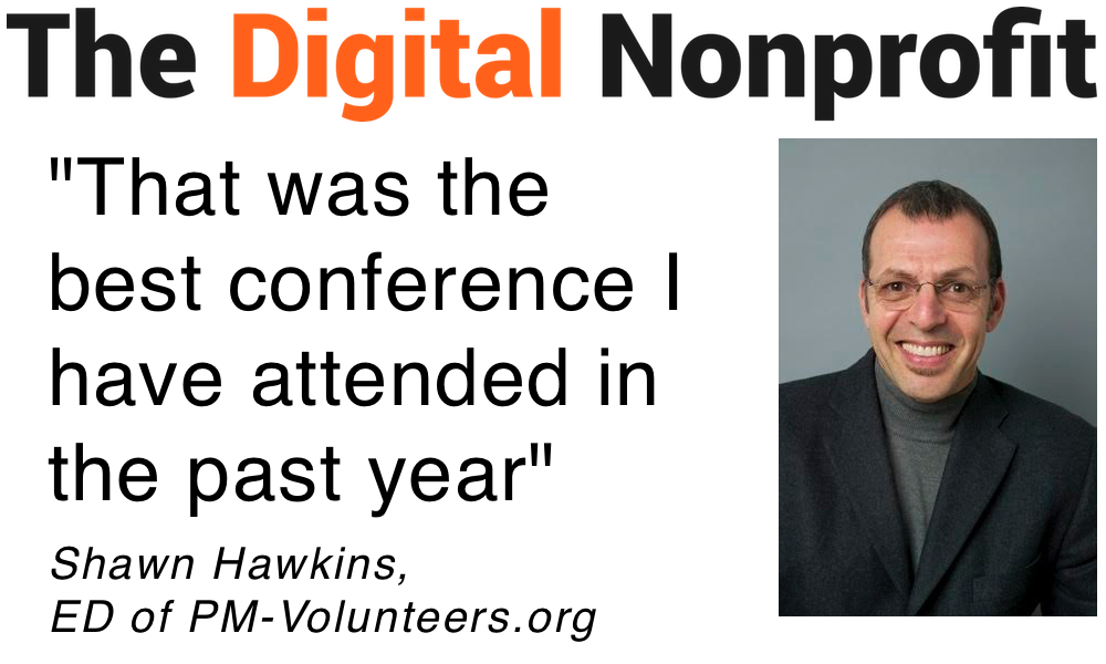 "Testimonial quote from Shawn Hawkins: ""Best conference I attended in past year"""