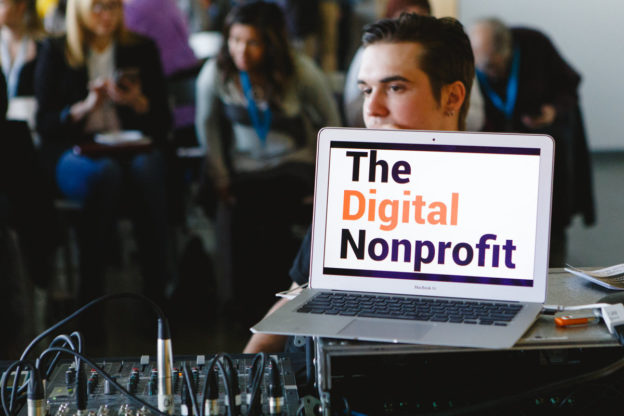 The Digital Nonprofit logo on computer