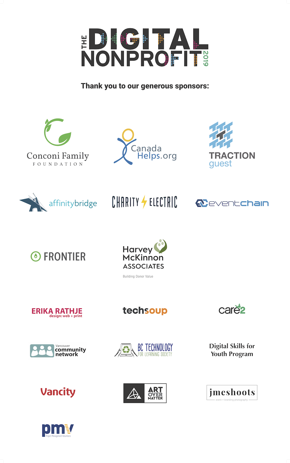 The Digital Nonprofit sponsor logos